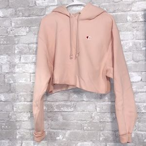 Champion Reverse Weave Women's Blush Crop Hoodie